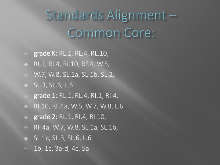 Standards Alignment –