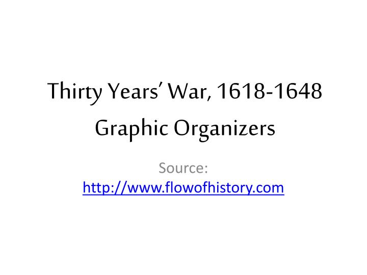 Thirty years war 1618 1648 graphic organizers