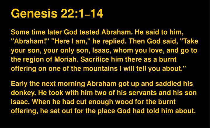 Genesis 22:1