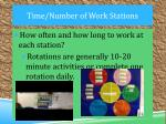 time number of work stations