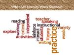 what are literacy work stations