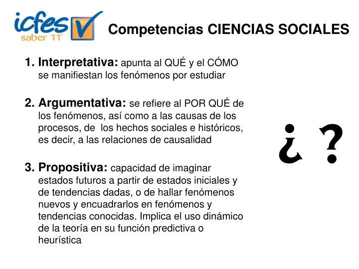 Competencias CIENCIAS SOCIALES