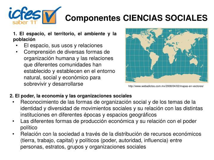 Componentes CIENCIAS SOCIALES
