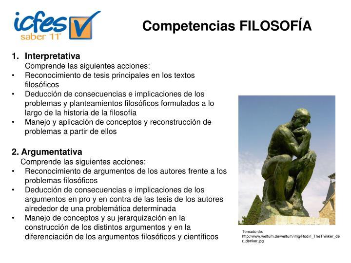 Competencias FILOSOFÍA