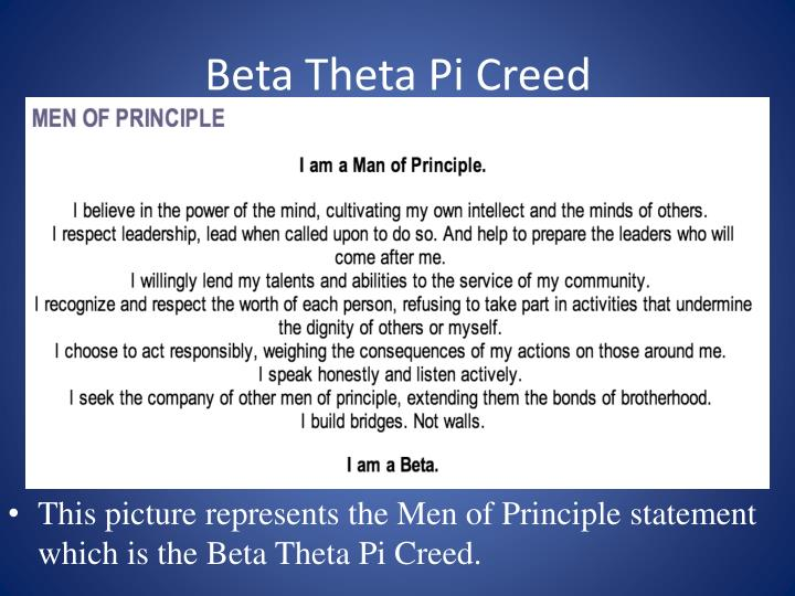 Beta Theta Pi Creed