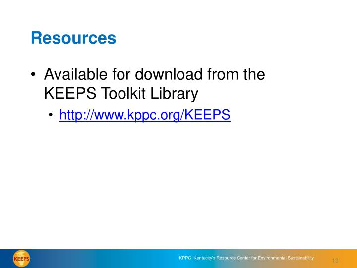 Available for download from the KEEPS Toolkit Library