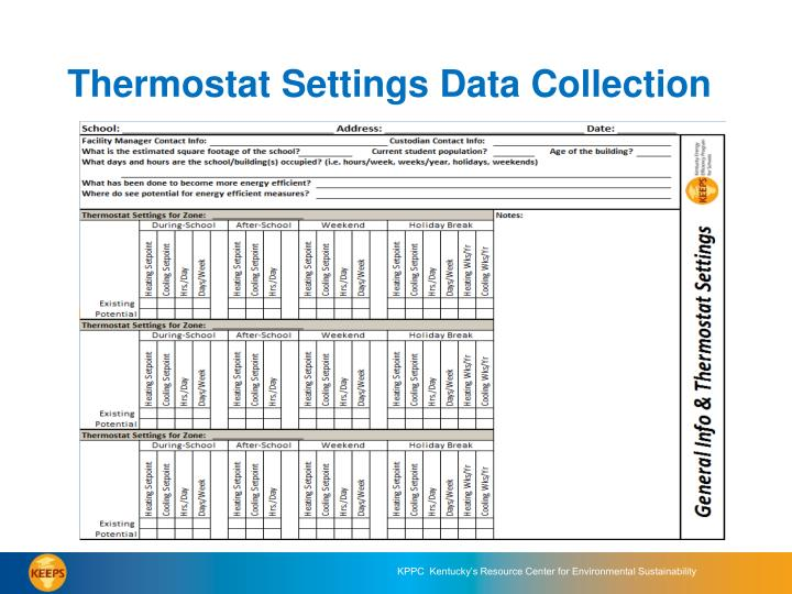 Thermostat Settings Data Collection