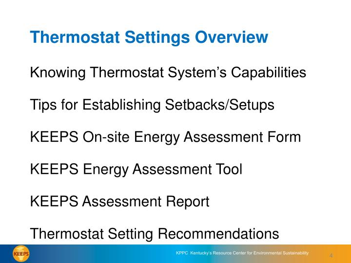 Knowing Thermostat System's Capabilities