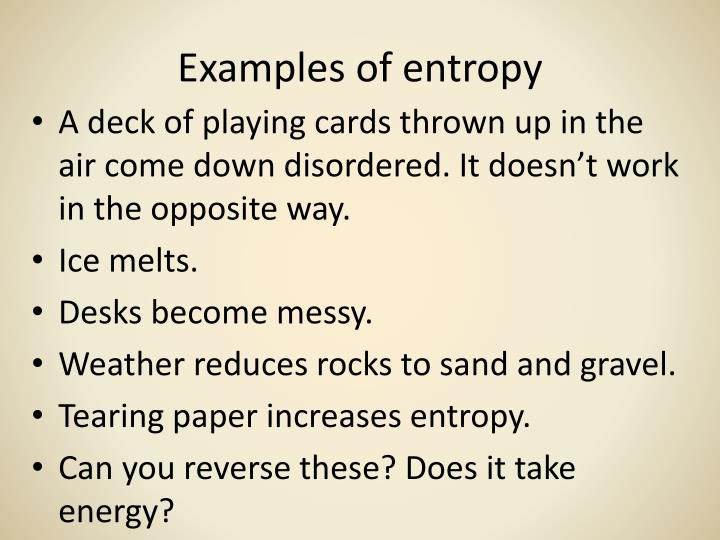 Examples of entropy