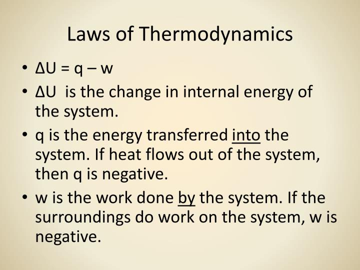Laws of thermodynamics1