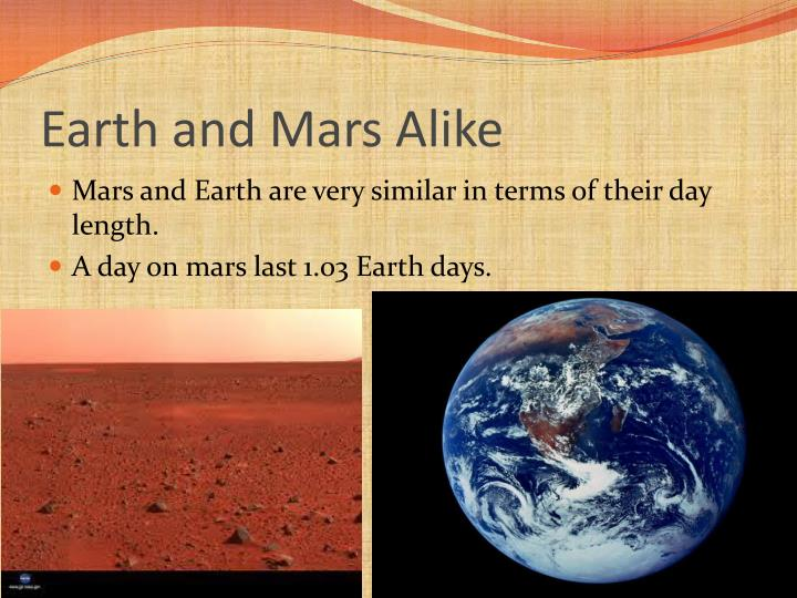 Earth and Mars Alike