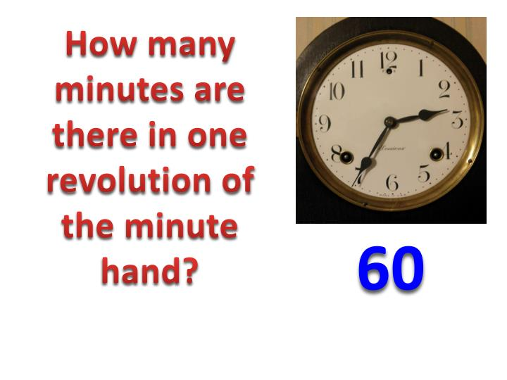 How many minutes are there in one revolution of the minute hand?