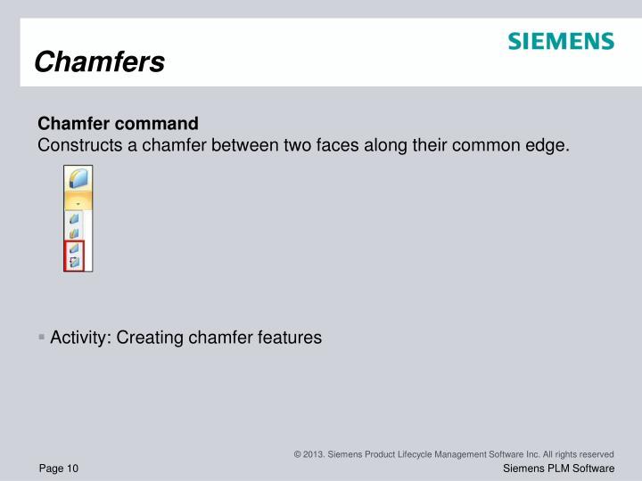 Chamfers