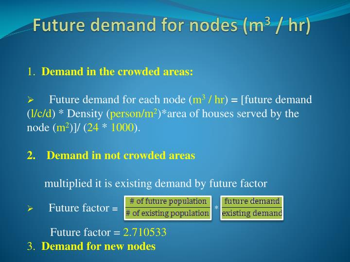 Future demand for nodes (