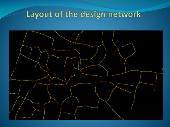 Layout of the design network