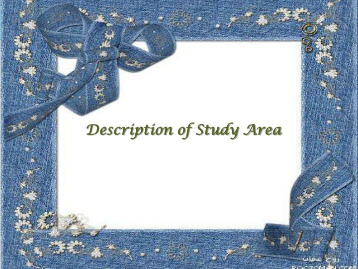 Description of Study Area