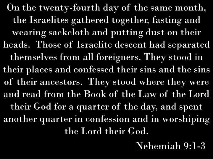 Nehemiah 9:1-3