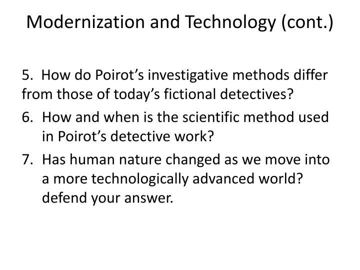Modernization and Technology (cont.)