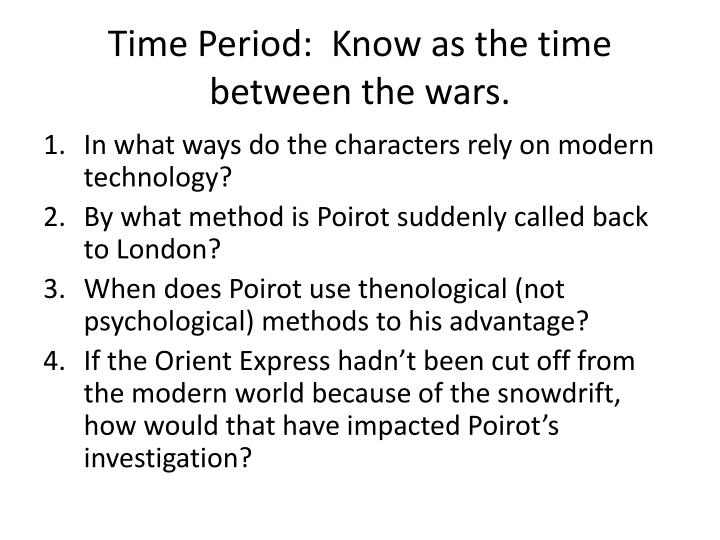 Time Period:  Know as the time between the wars.