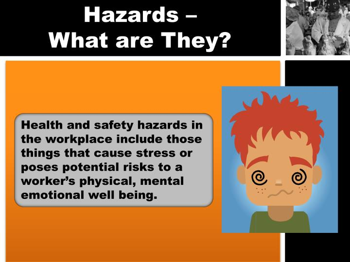 job hazards An occupational hazard is a hazard experienced in the workplace occupational  hazards can encompass many types of hazards, including chemical hazards,.