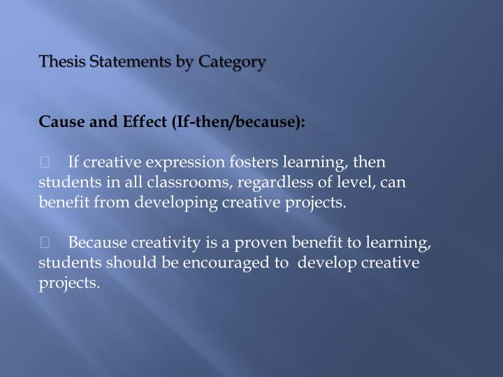 Thesis Statements by Category