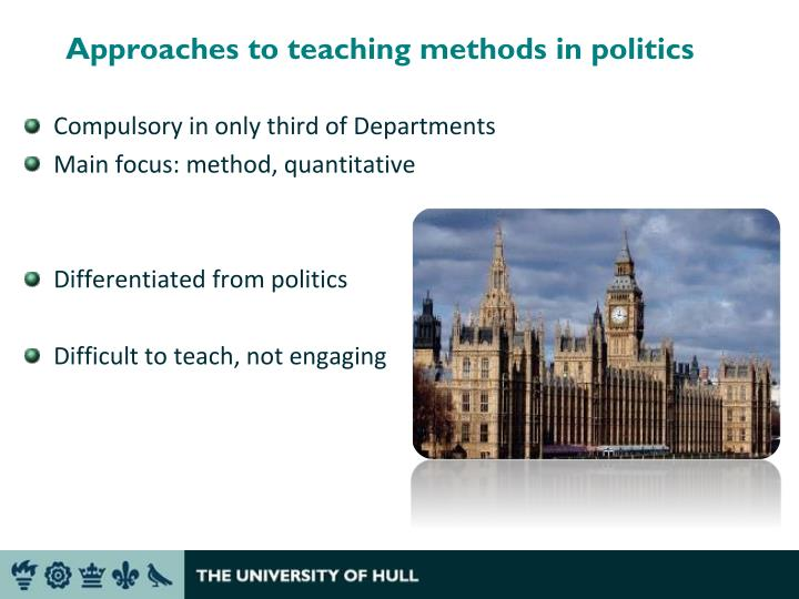 Approaches to teaching methods in politics