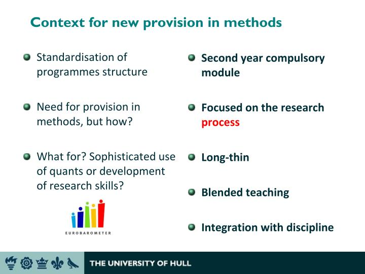 Context for new provision in methods