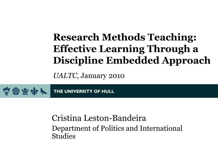 Research Methods Teaching: