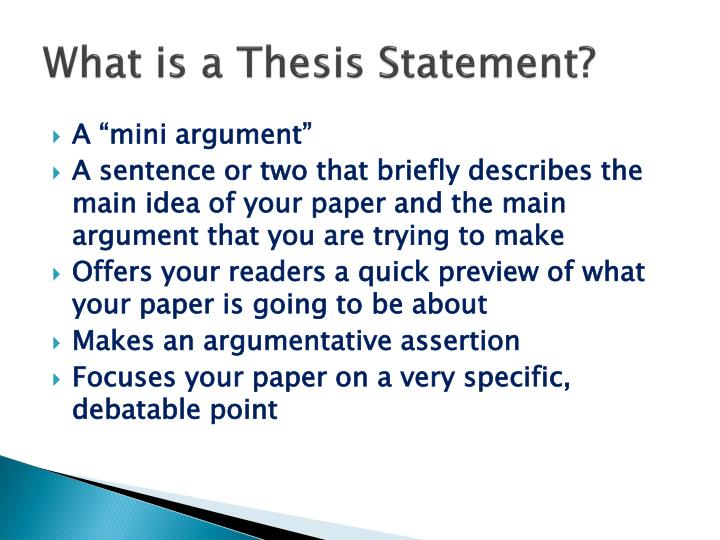 quick thesis statement