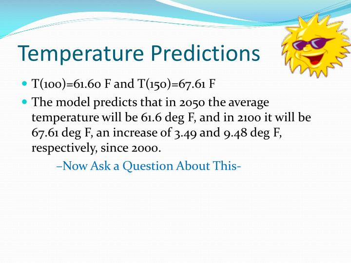 Temperature Predictions
