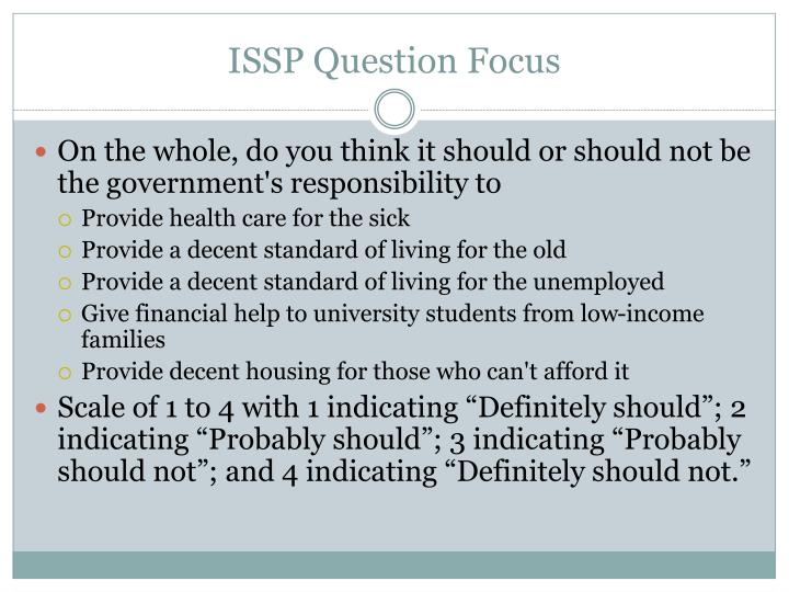 ISSP Question Focus