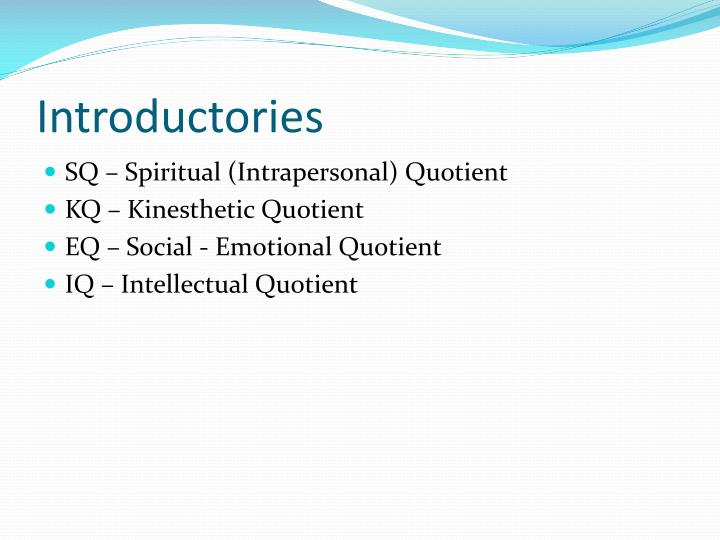 Introductories