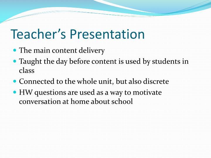 Teacher's Presentation