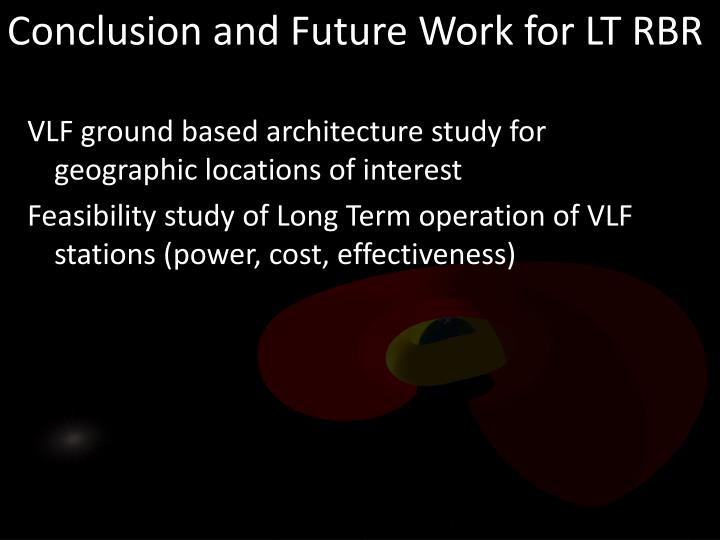 Conclusion and Future Work for LT RBR