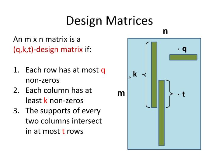 Design Matrices