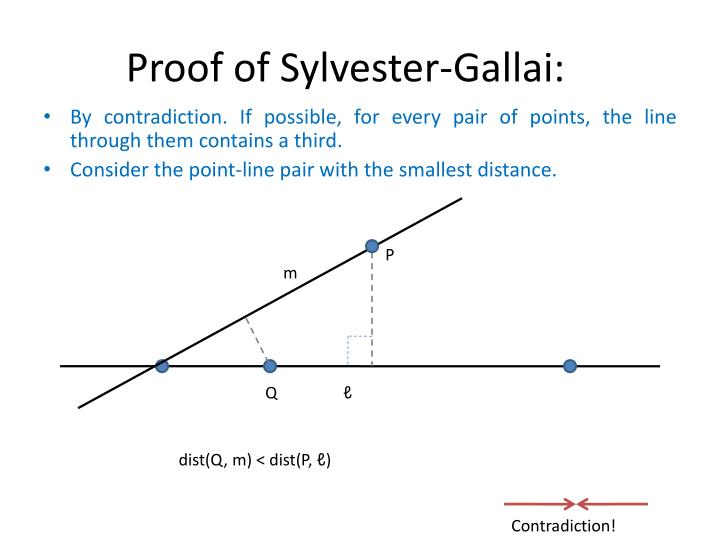 Proof of Sylvester-