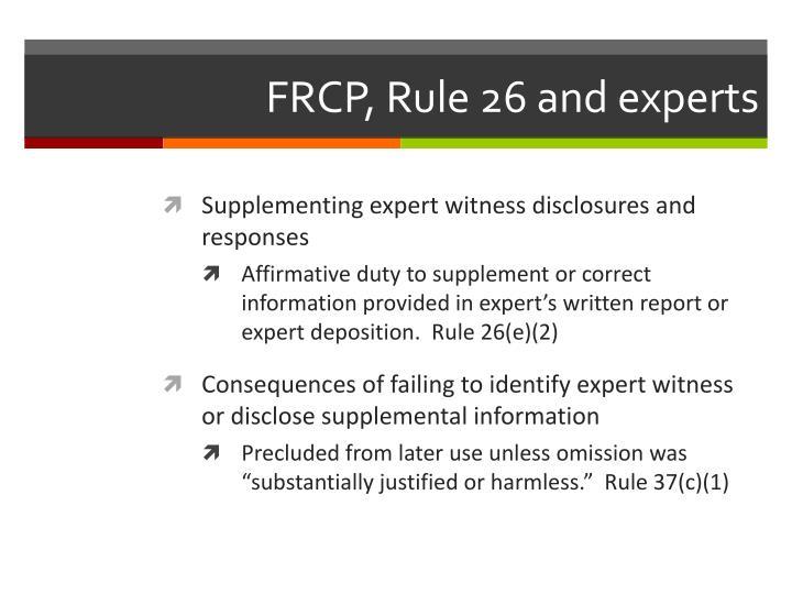 FRCP, Rule