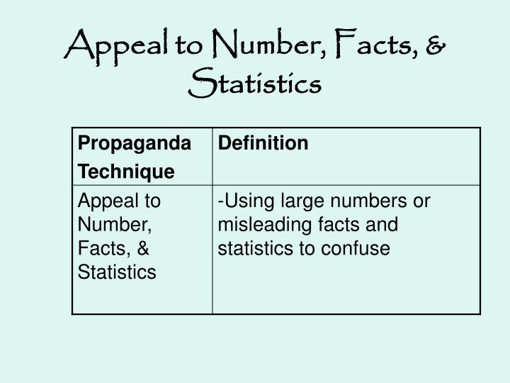 Appeal to Number, Facts, & Statistics