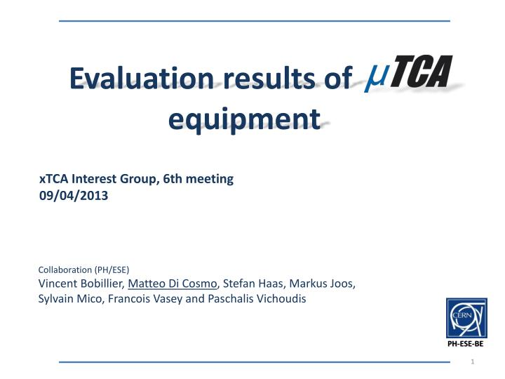 Evaluation results of