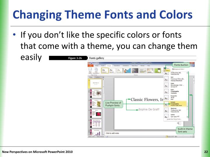 Changing Theme Fonts and Colors