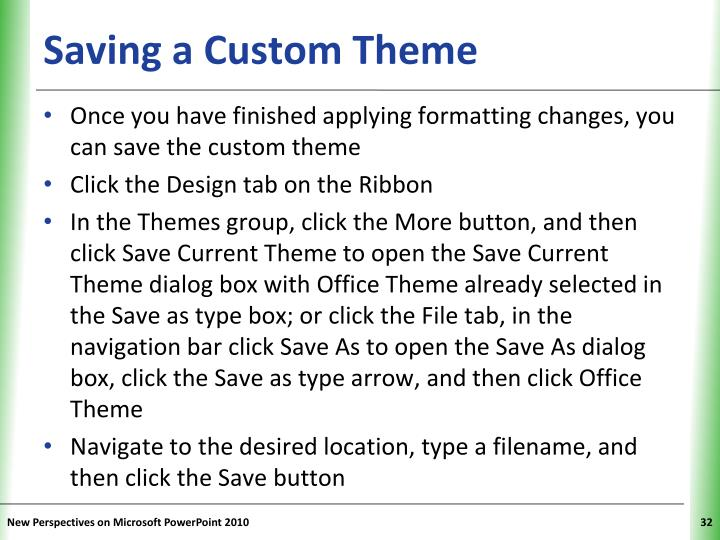 Saving a Custom Theme