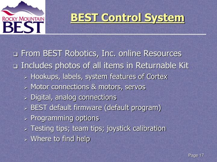 BEST Control