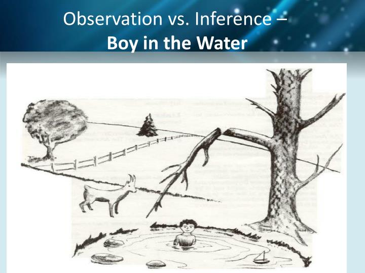 Observation vs. Inference –