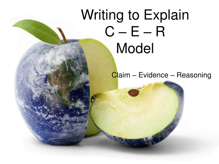Writing to explain c e r model