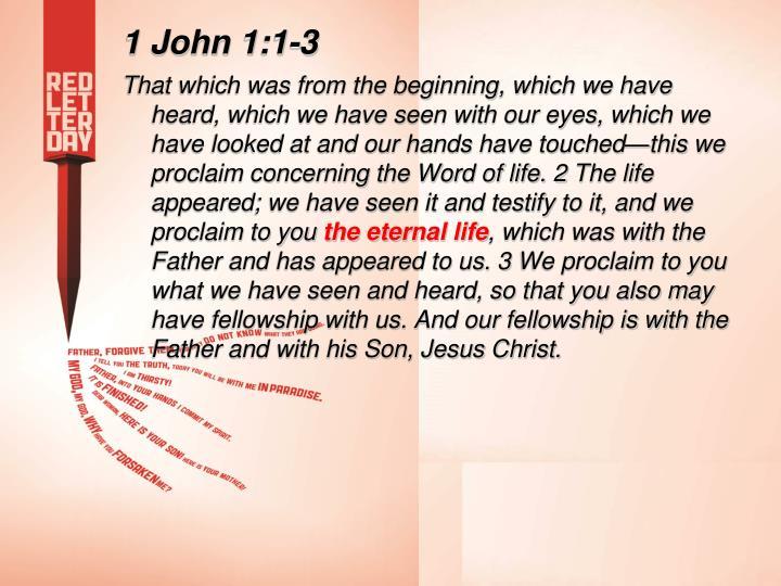 1 John 1:1-3