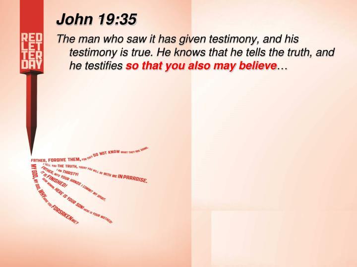 John 19:35