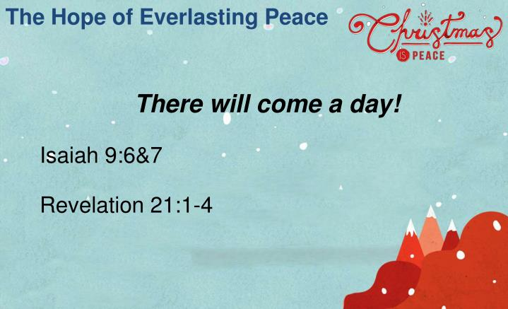 The Hope of Everlasting Peace