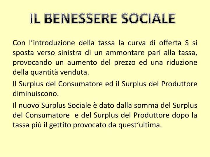 IL BENESSERE SOCIALE