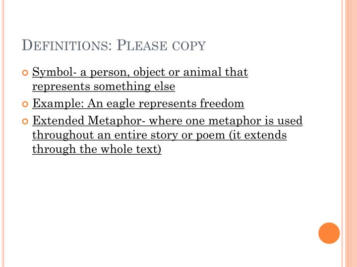 Definitions: Please copy