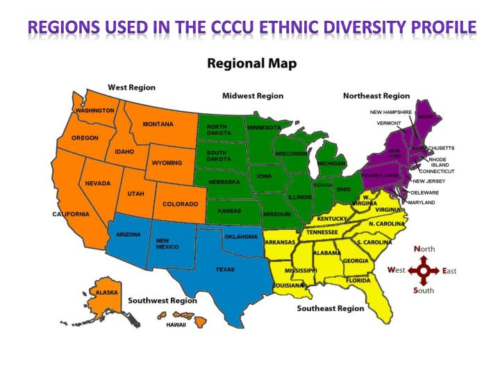 Regions Used in the CCCU Ethnic Diversity Profile